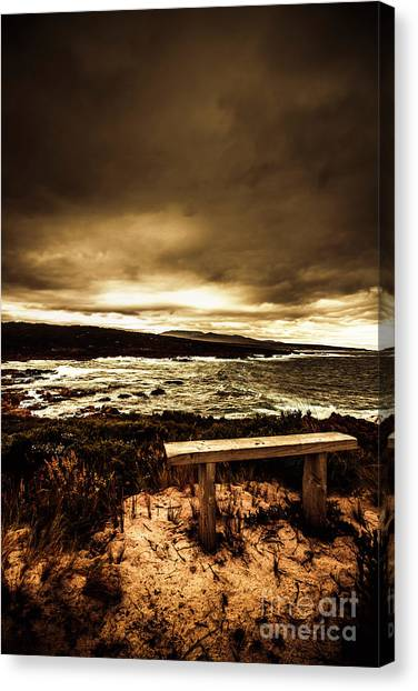 Winter Storm Canvas Print - Intense Coastline Drama by Jorgo Photography - Wall Art Gallery