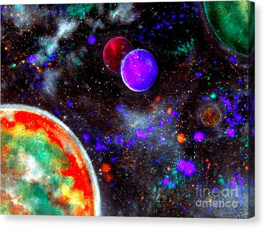 Stellar Canvas Print - Intense Galaxy by Bill Holkham