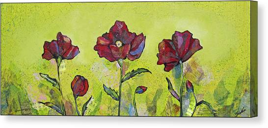 Limes Canvas Print - Intensity Of The Poppy I by Shadia Derbyshire