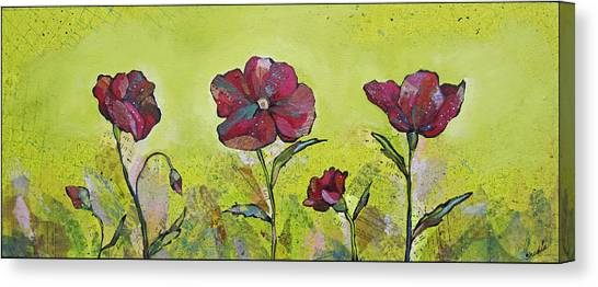 Limes Canvas Print - Intensity Of The Poppy II by Shadia Derbyshire