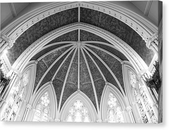 Interior Architecture Of A Church Canvas Print