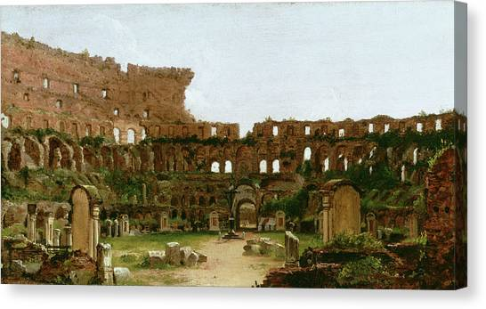 The Colosseum Canvas Print - Interior Of The Colosseum, Rome by Thomas Cole