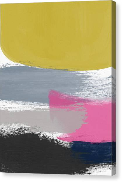 Midcentury Modern Canvas Print - Jubilee Mix 2- Abstract Art By Linda Woods by Linda Woods