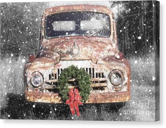 International Christmas Snow Canvas Print