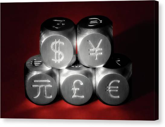 Yen Canvas Print - International Currency Symbols II by Tom Mc Nemar