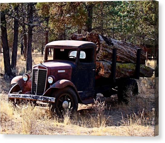 International Log Truck Canvas Print
