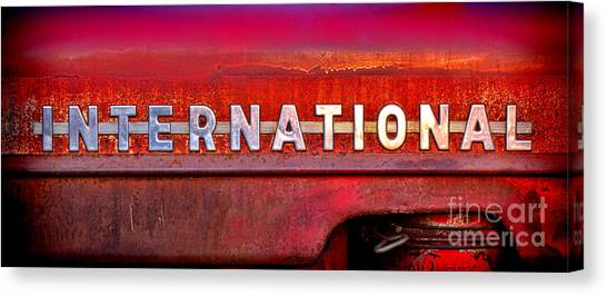 Tractors Canvas Print - International  by Olivier Le Queinec