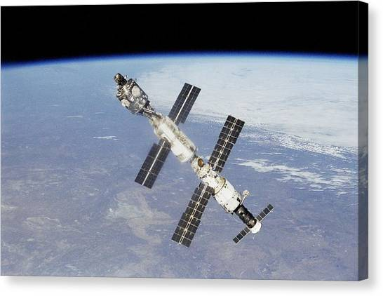 Space Station Canvas Print - International Space Station by Super Lovely
