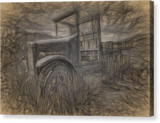 International Truck Skeleton Canvas Print