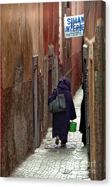 Moroccon Canvas Print - Internet Alley by Marion Galt