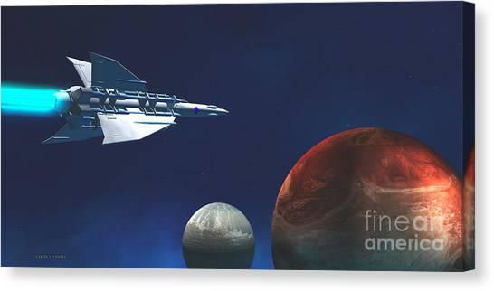 Stellar Canvas Print - Interplanetary Travel by Corey Ford