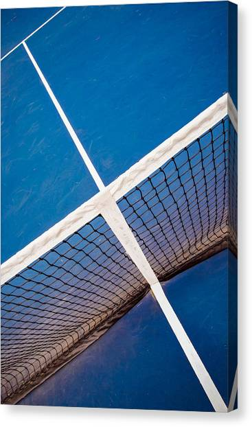 Intersections On The Tennis Court Canvas Print