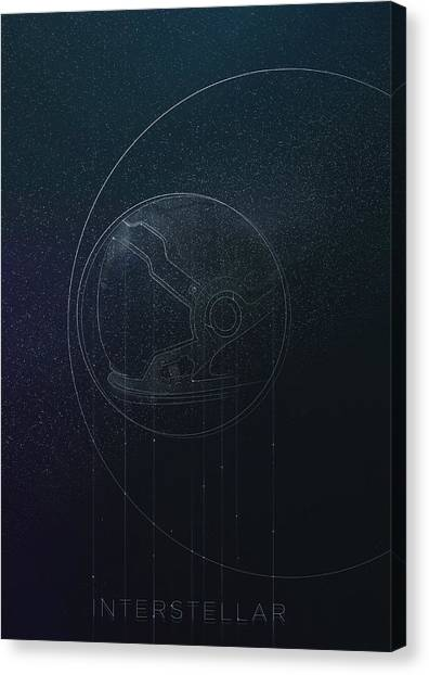 Interstellar Movie Poster Canvas Print