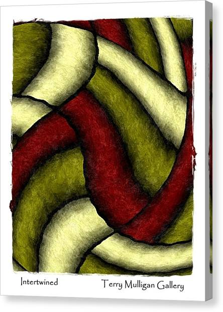 Intertwined Canvas Print by Terry Mulligan