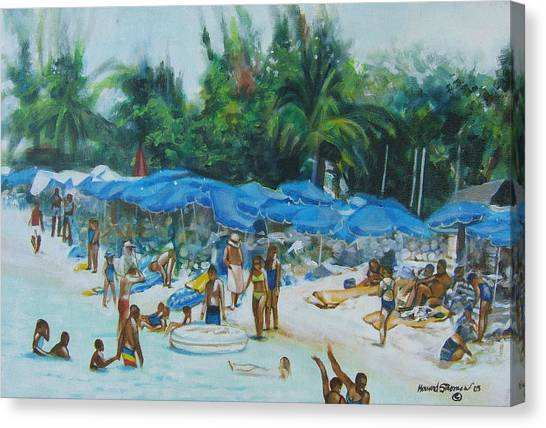 Intimacy On Vacation Canvas Print by Howard Stroman
