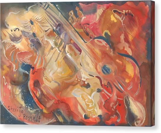 Intimate Guitar Canvas Print