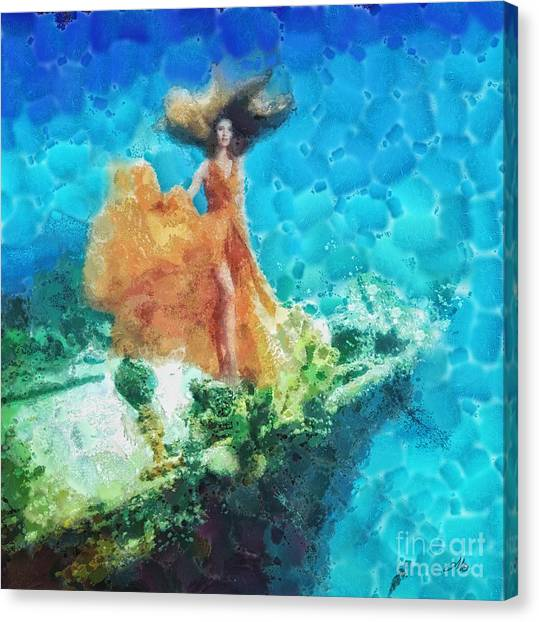 Mo Canvas Print - Into Deep by Mo T