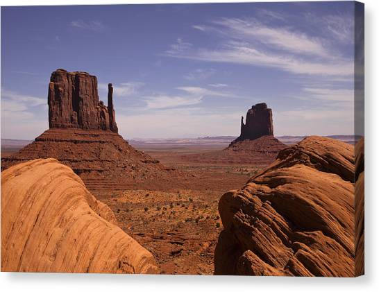 Cloudscape Canvas Print - Into Monument Valley by Andrew Soundarajan