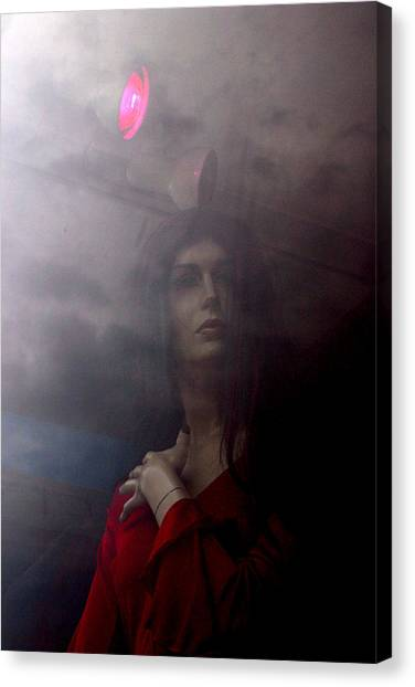Into Or Away From The Light Canvas Print by Jez C Self