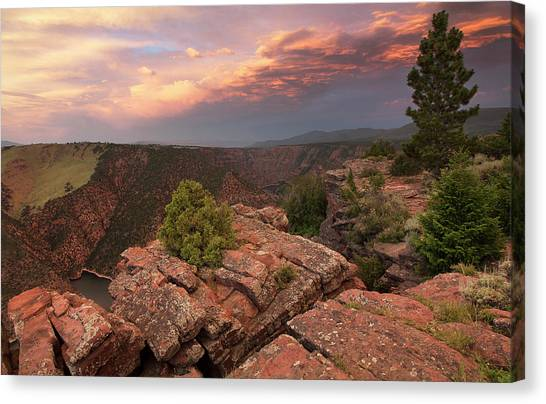 Into Red Canyon Canvas Print by David Halter