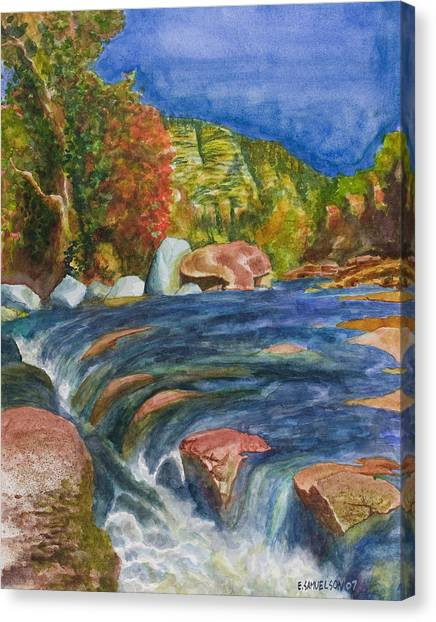 Into Slide Rock Canvas Print