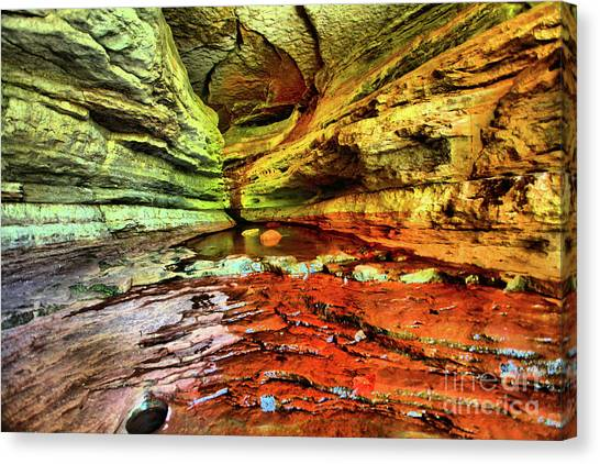 Into The Cave Canvas Print by Kevin Kuchler
