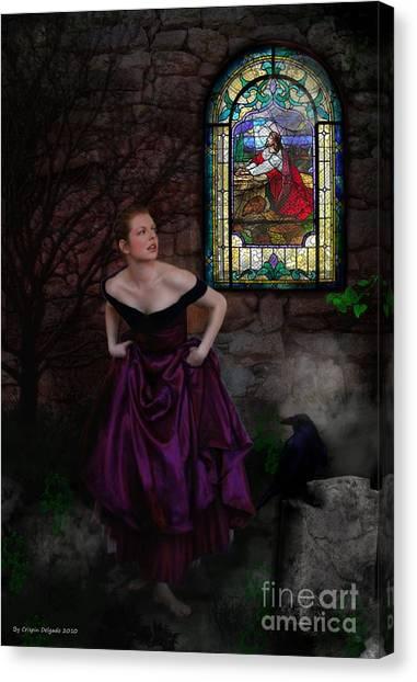Into The Darkness Canvas Print by Crispin  Delgado
