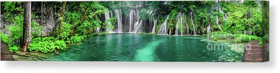 Into The Waterfalls - Plitvice Lakes National Park Croatia Canvas Print