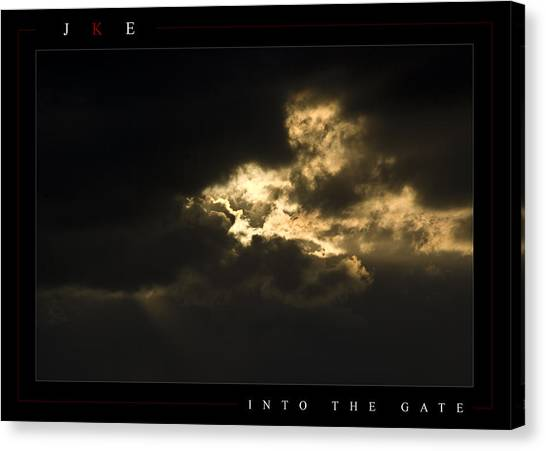 Into The Gate Canvas Print by Jonathan Ellis Keys