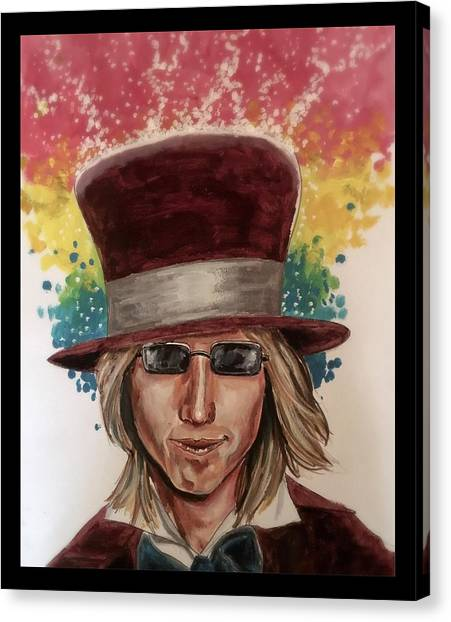 Tom Petty Canvas Print - Into The Great Wide Open by Joel Tesch