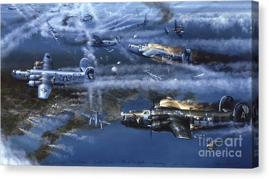 Biplane Canvas Print - Into The Hornet's Nest by Randy Green