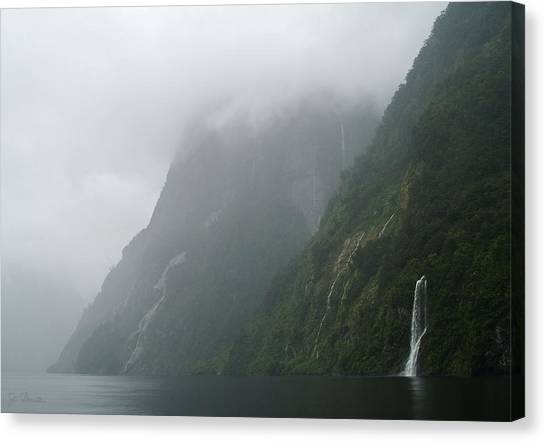 Into The Mist Canvas Print by Joe Bonita