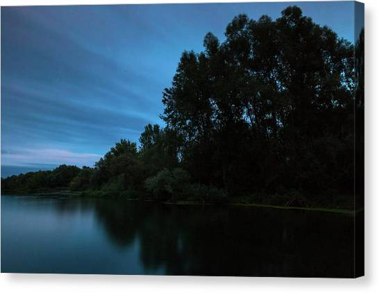 Canvas Print featuring the photograph Into The Night by Davor Zerjav