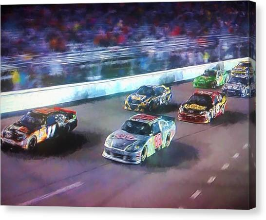 Hendrick Motorsports Canvas Print - Into The Night by Steven Richardson