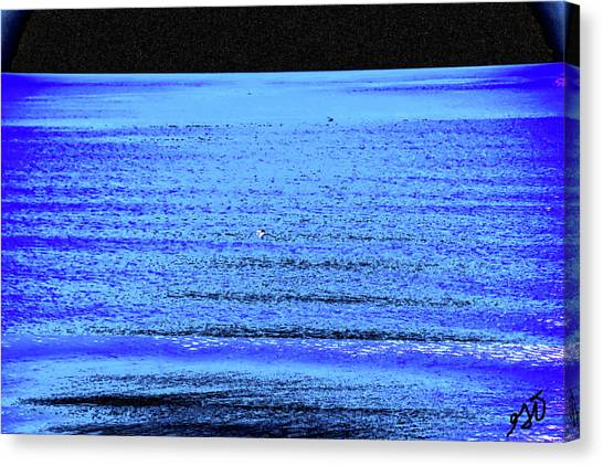 Into The Ocean Void Canvas Print