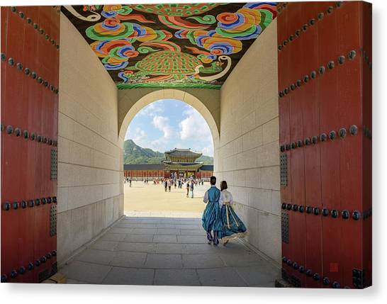 Into The Palace Canvas Print