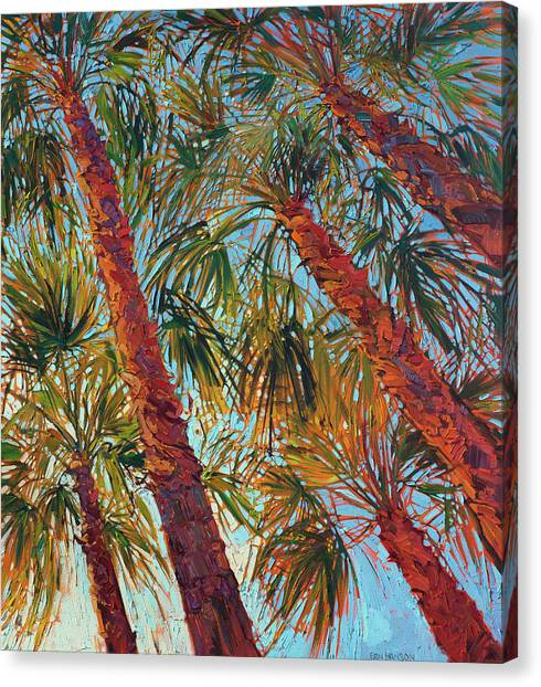 Palms Canvas Print - Into The Palms - Diptych Right Panel by Erin Hanson