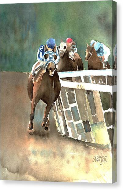 Into The Stretch And Headed For Home-secretariat Canvas Print