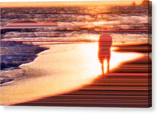 Into The Sunset 6 Canvas Print by Lyle Crump