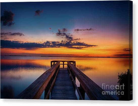 Into The Sunset Canvas Print