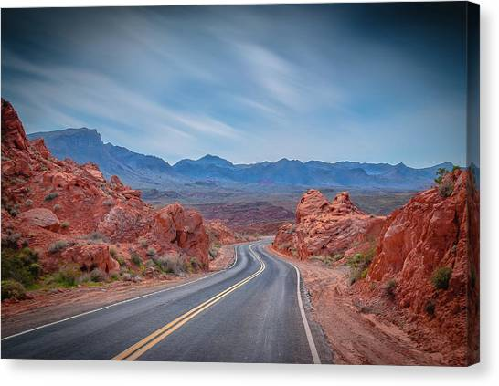 Into The Valley Of Fire Canvas Print
