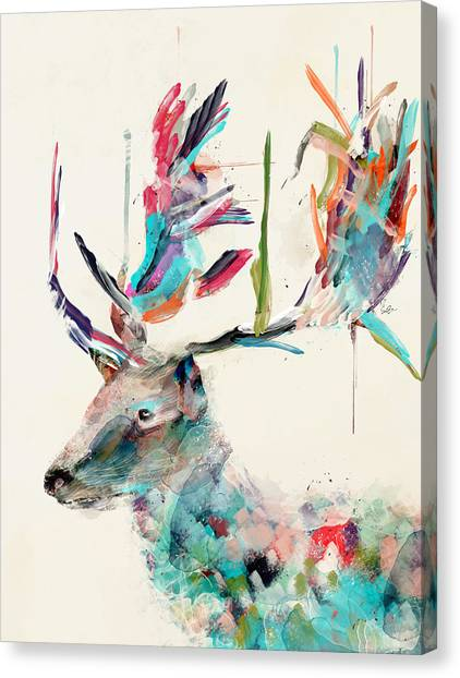 Stag Canvas Print - Into The Wild by Bri Buckley