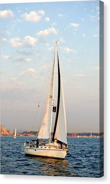 Into The Wind Canvas Print by Tom Dowd