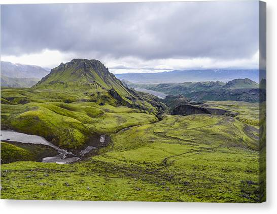 Eyjafjallajokull Canvas Print - Into Thorsmork by Alex Blondeau