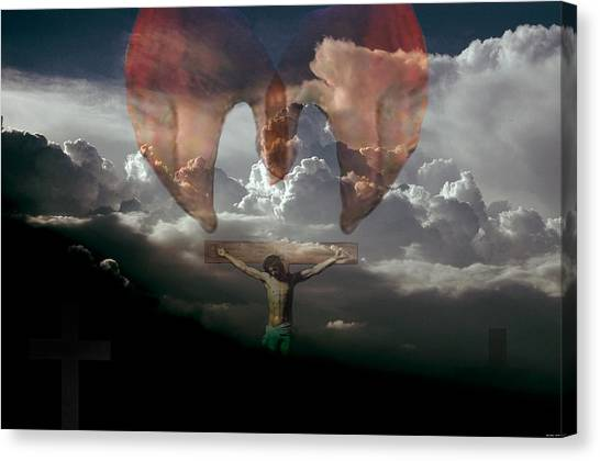 Into Thy Hands I Come Canvas Print by Evelyn Patrick