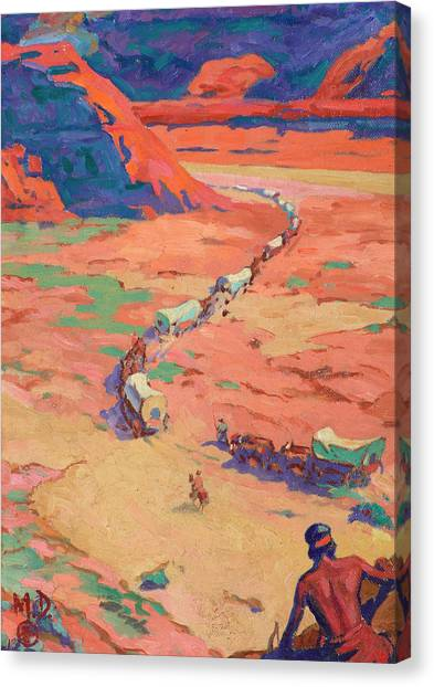 Scouting Canvas Print - Scouting The Intruders by Maynard Dixon
