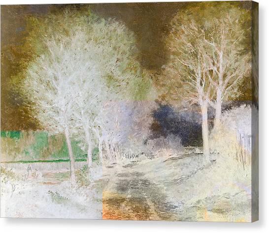 The Haunted House Canvas Print - Inv Blend 4 Sisley by David Bridburg