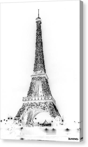 Inverted Eiffel Tower Canvas Print by Al Blackford