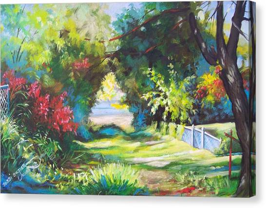Inverted Heart Lullaby Lane Canvas Print by Bobbi Baltzer-Jacobo