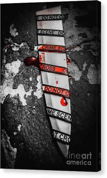 Caution Canvas Print - Investigation Of Cross Examination by Jorgo Photography - Wall Art Gallery